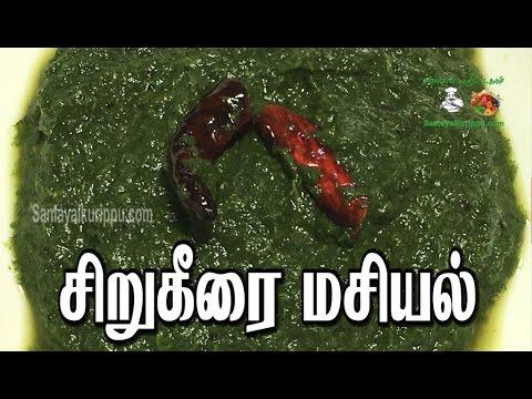 சிறு கீரை மசியல்   Sirukeerai masiyal   #samayalkurippu