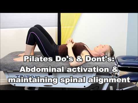 Pilates Do's & Dont's: Abdominal activation and maintaining spinal alignment Adelaide