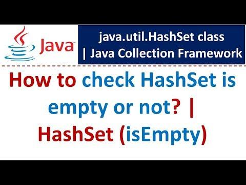 Java : Collection Framework : HashSet (isEmpty)