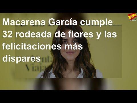 Macarena García cumple 32 rodeada de flores