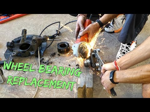 HOW TO REPLACE FRONT WHEEL BEARING without PRESS