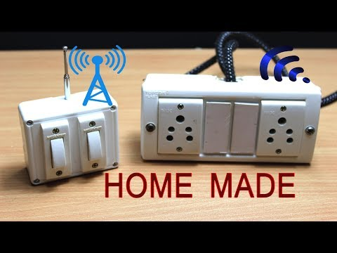 How to Make Remote Control Electric Extension board at home Without microcontroller