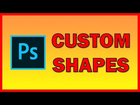 How to Create custom shapes in Adobe Photoshop CC - Tutorial