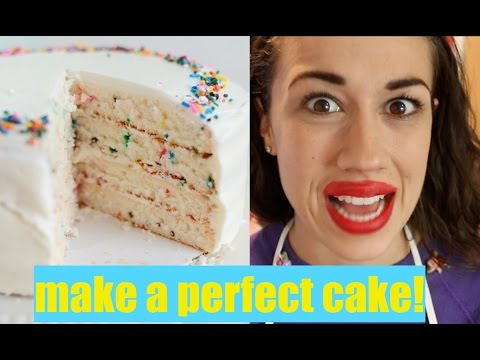 HOW TO MAKE A PERFECT CAKE
