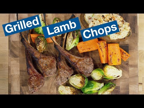 Grilled Lamb Chops on the Otto Wilde Grill Recipe || Le Gourmet TV Recipes