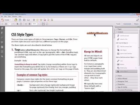 Automatically create email and web links in a PDF!