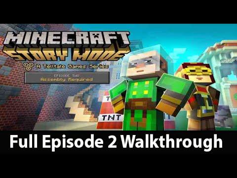 Minecraft Story Mode Episode 2 Full Walkthrough NO Commentary