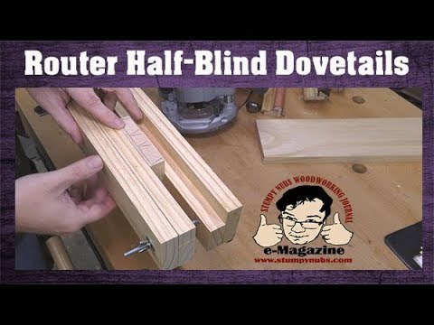 CHEAP and easy router jig for Half-blind dovetails