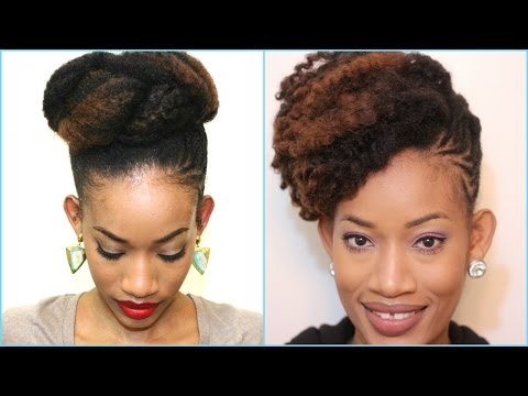 How to style an old twist out | Updo | Natural Hair | 4c Hair | Hair Tutorial