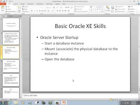 Introduction to Oracle: Install and Start Using Oracle 11g Express Edition