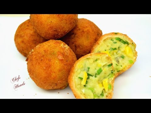 Cheese Corn Balls Recipe - Chef's Hands