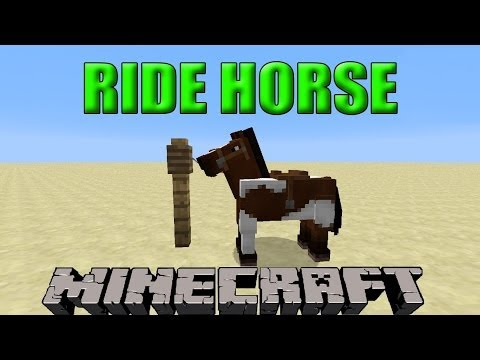 How To Ride A Horse In Minecraft | Minecraft 1.8 Update