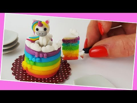 Unicorn cake / Miniature cooking / Mini Food  / Jenny's mini cooking show / 食べれるミニチュア