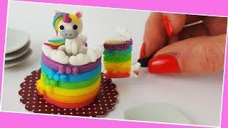 Unicorn cake / Miniature cooking / Mini Food  / Jenny