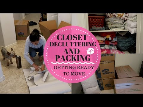 CLOSET DECLUTTER & PACKING IT UP  || GETTING READY TO MOVE || DECLUTTERING MOTIVATION