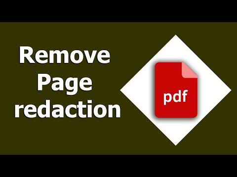 PDF Tutorial- How to Delete or Remove Page redaction in pdf by using adobe acrobat pro