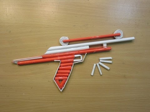 How to Make a Paper Gun that Shoots Paper Bullets - Easy Tutorials