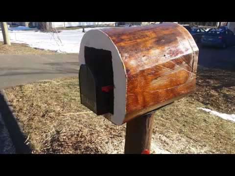 Reinforcing my mailbox....within a log!