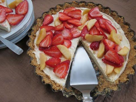 Frozen Yogurt Pie Recipe with Fruit - The Frugal Chef