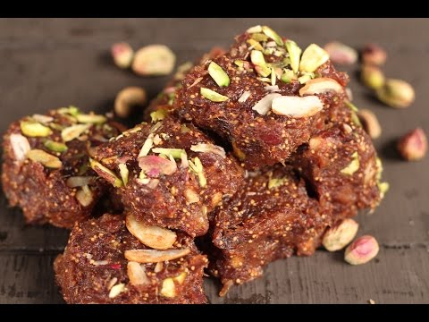 Date And Fig Barfi | Not So Junky - by Chef Siddharth | Sanjeev Kapoor Khazana