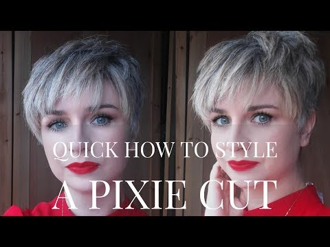 Quick How To Blow Dry/ Style A Pixie Cut HairStyle |Undercut|Hall Styling