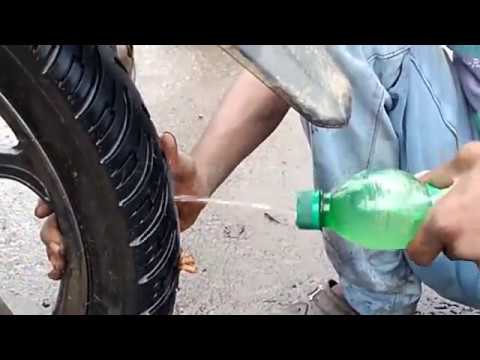 how to fix a tubeless tire puncture just 5 minutes || tubeless tyres  easily repair method