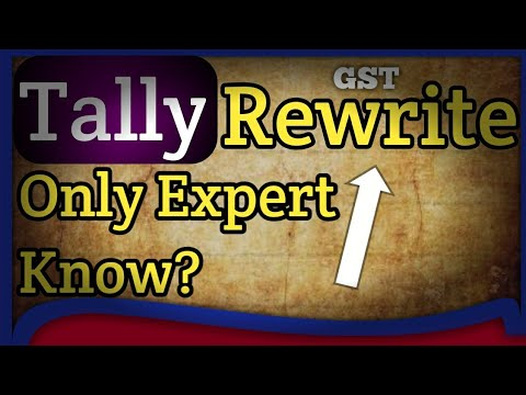 GST Tally TRick #10 REWRITE COMPANY | tally error solution tally internal error company data error