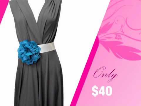 Satin Ribbon Wedding Dress Sash with Teal Flower - AdvantageBridal.com