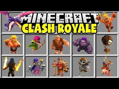 Minecraft CLASH ROYALE MOD   BARBARIANS, WIZARDS, GOLEMS, GIANTS & MORE!!