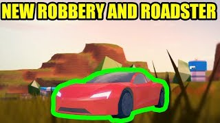 NEW ROBBERY and TESLA ROADSTER Coming to Roblox Jailbreak