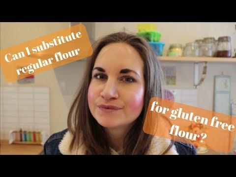 Can I substitute regular flour for gluten free flour?
