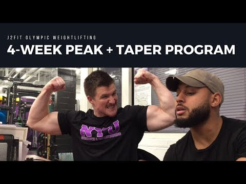 Peaking and Tapering for Olympic Weightlifting Meet - J2FIT Weightlifting Updates (Winter 2017)