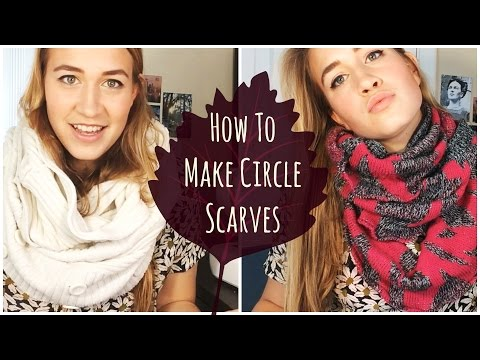 DIY Infinity Scarves | Recycling Old Sweaters