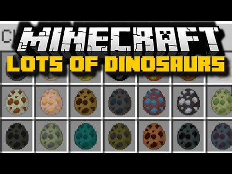 Minecraft: LOTS OF DINOSAURS (T-Rex, Flying Dinosaurs & More) Mod Showcase