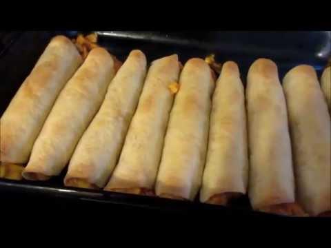 How To Make Baked Creamy Cheesy Chicken Flautas & Guacamole