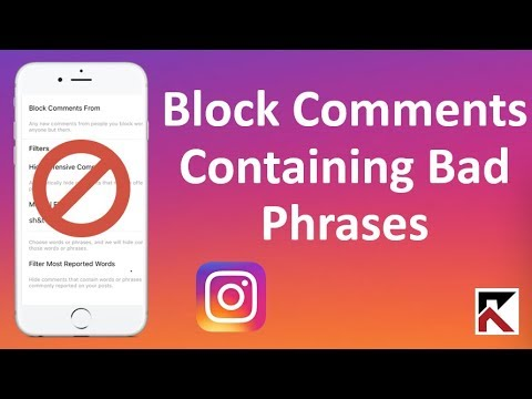 How To Block Comments That Contain Bad Phrases Instagram