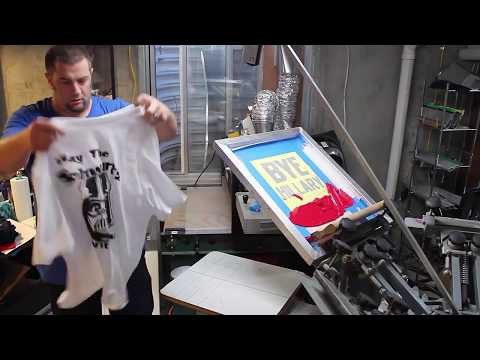 Screen Printing with a vinyl stencil