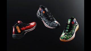 sports shoes 1acbb 9f74a 2018 BAPE Adidas Dame 4 Red Camo HD Reviews From ajking.ru