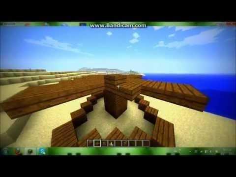 minecraft how to make beach  bar
