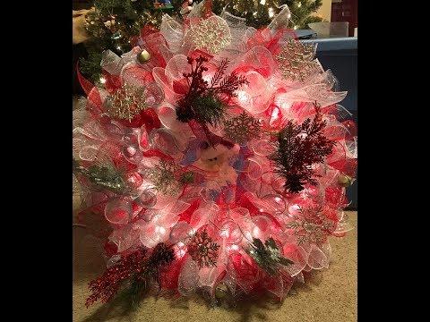 DIY Spiral Deco Mesh Wreath! | Nina Gilhousen