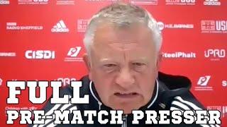 Chris Wilder FULL Pre-Match Press Conference - Sheffield United v Tottenham - Premier League