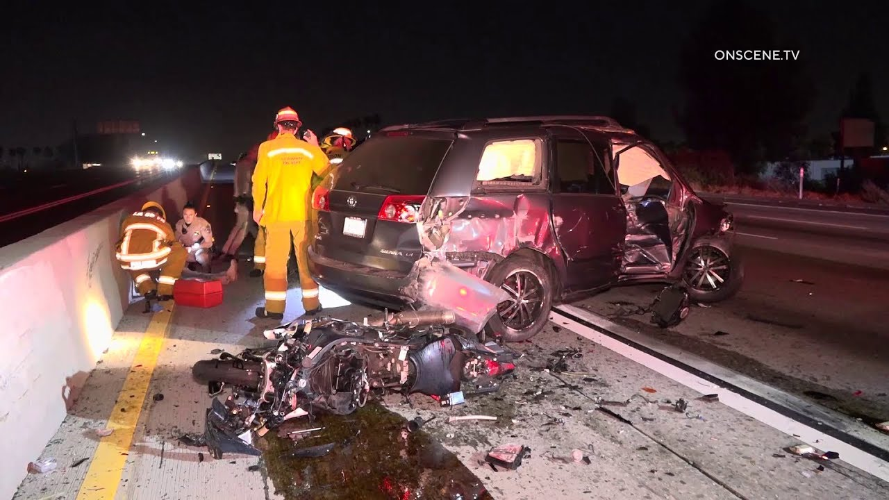 Motorcyclist Fatally Ejected Into Van After Striking Disabled Vehicle In Cerritos