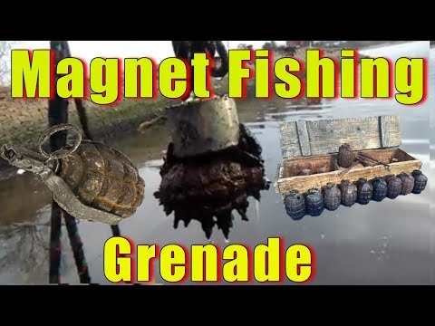 Magnet Fishing Ditched Stolen Goods and a live grenade 2017 / 2018