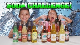SODA CHALLENGE!!! Kids Drink Weird Soda Flavors! GROSS!