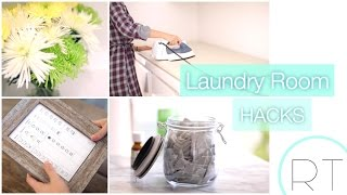 DIY Laundry Room Hacks (Ironing Board, Dryer Sheets)