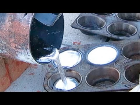 MOLTEN ALUMINUM CASTING BACKYARD FOUNDRY FIRE ANT HILL ART TESTING