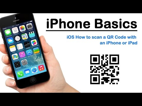 iPhone Basics - iOS How to scan a QR Code with an iPhone or iPad
