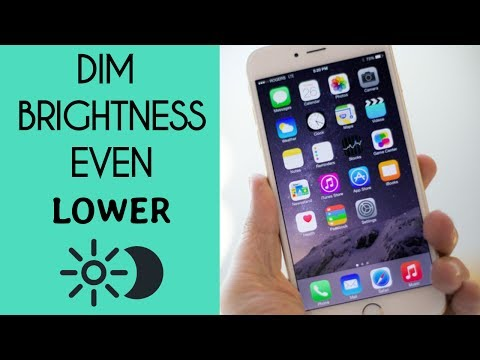 How to Dim BRIGHTNESS PASSED the LIMIT on IPHONE/IPOD