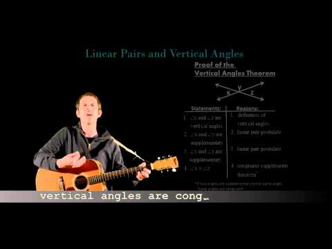 Algebra Man:  Linear Pairs and Vertical Angles