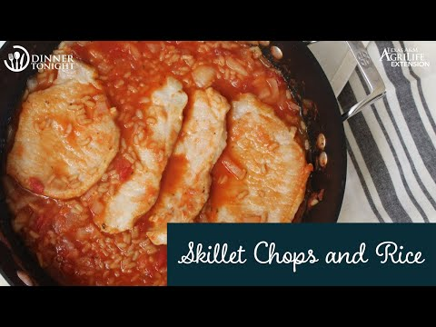Skillet Chops And Rice